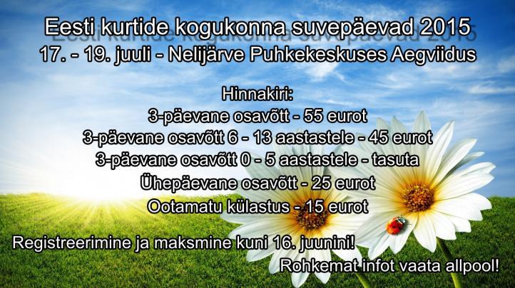 ekl suvepäevade plakat 2015